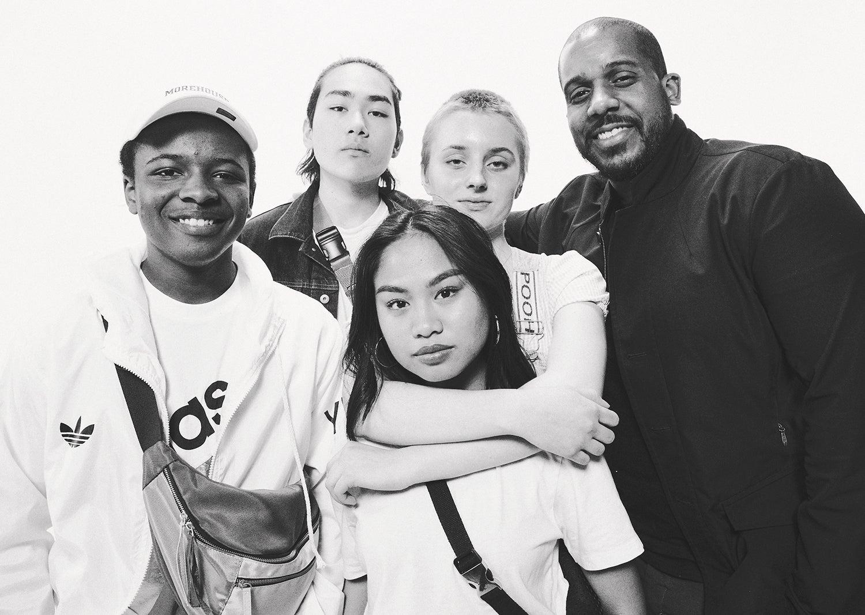 Drew with Dusan, Sora, Ruby, and Aijah