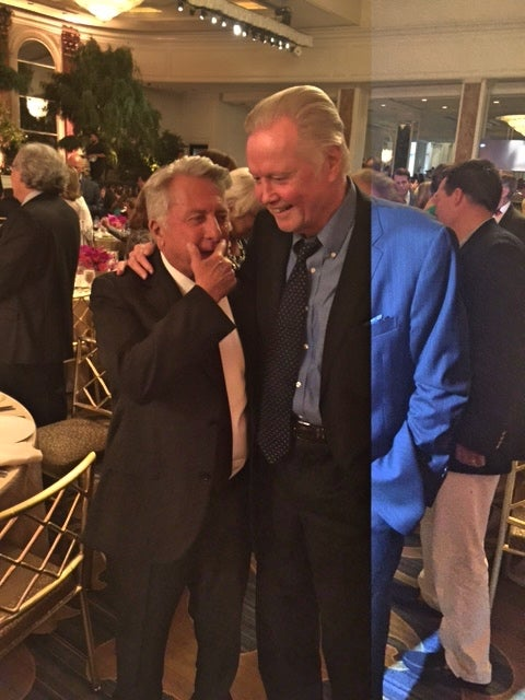 Dustin Hoffman and Jon Voight meet at the 2017 Grants Banquet