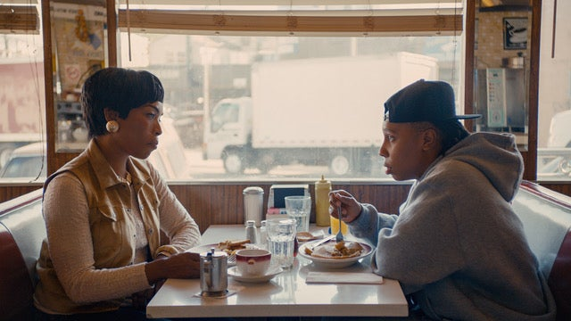 "Angela Basset and Lena Waithe on the set of ""Master of None"""
