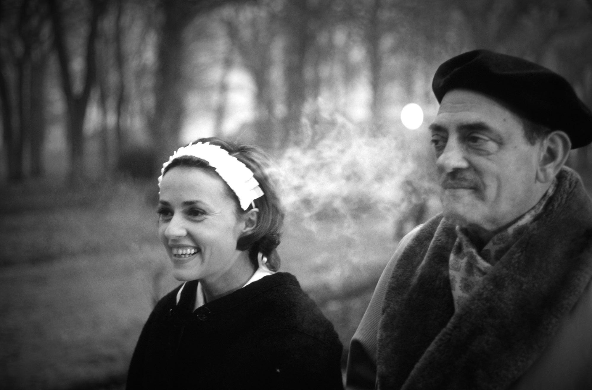 Filmmaker Luis Buñuel, Golden Globe nominee, and Jeanne Moreau, 1963