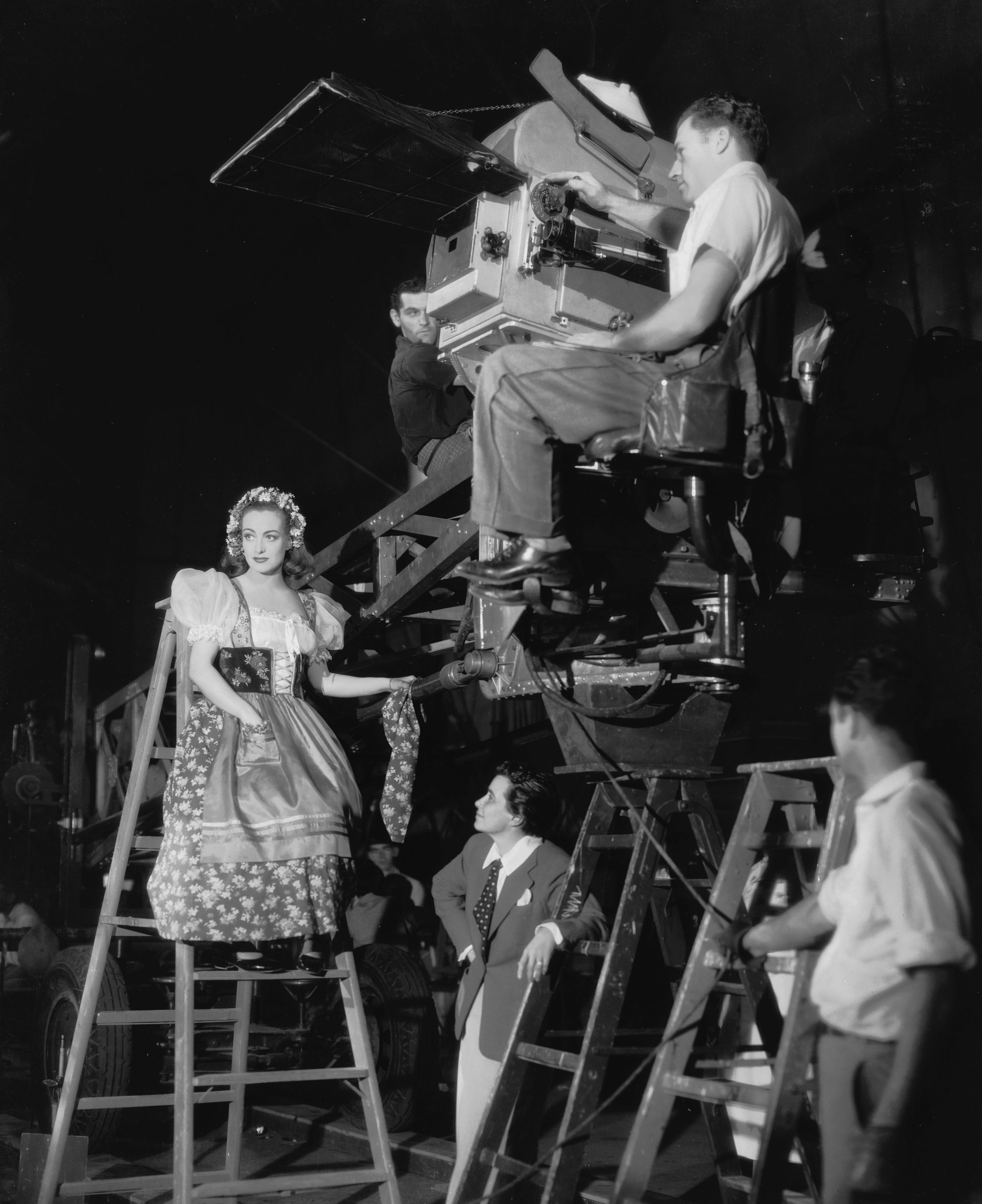 Director Dorothy Arzner on the set of The Bride Wore Red, 1937