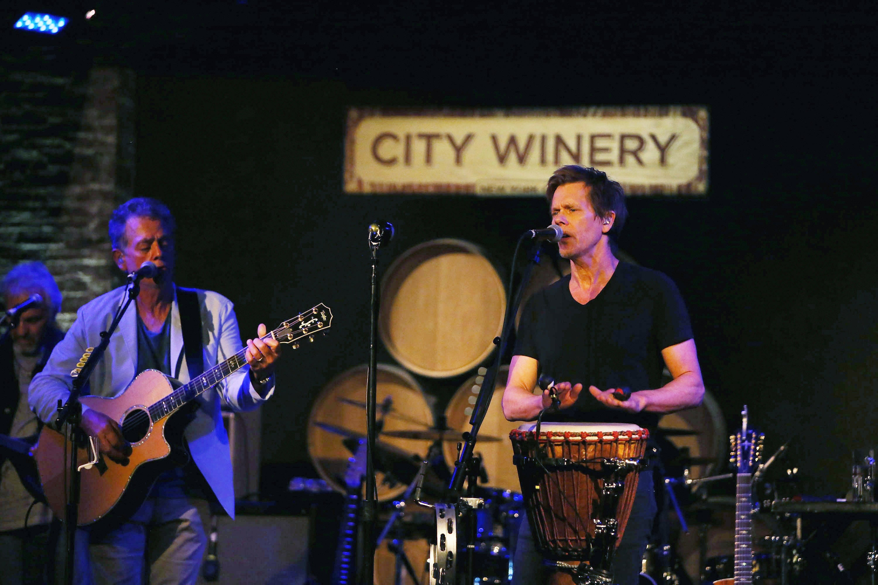 The Bacon Brothers band performs