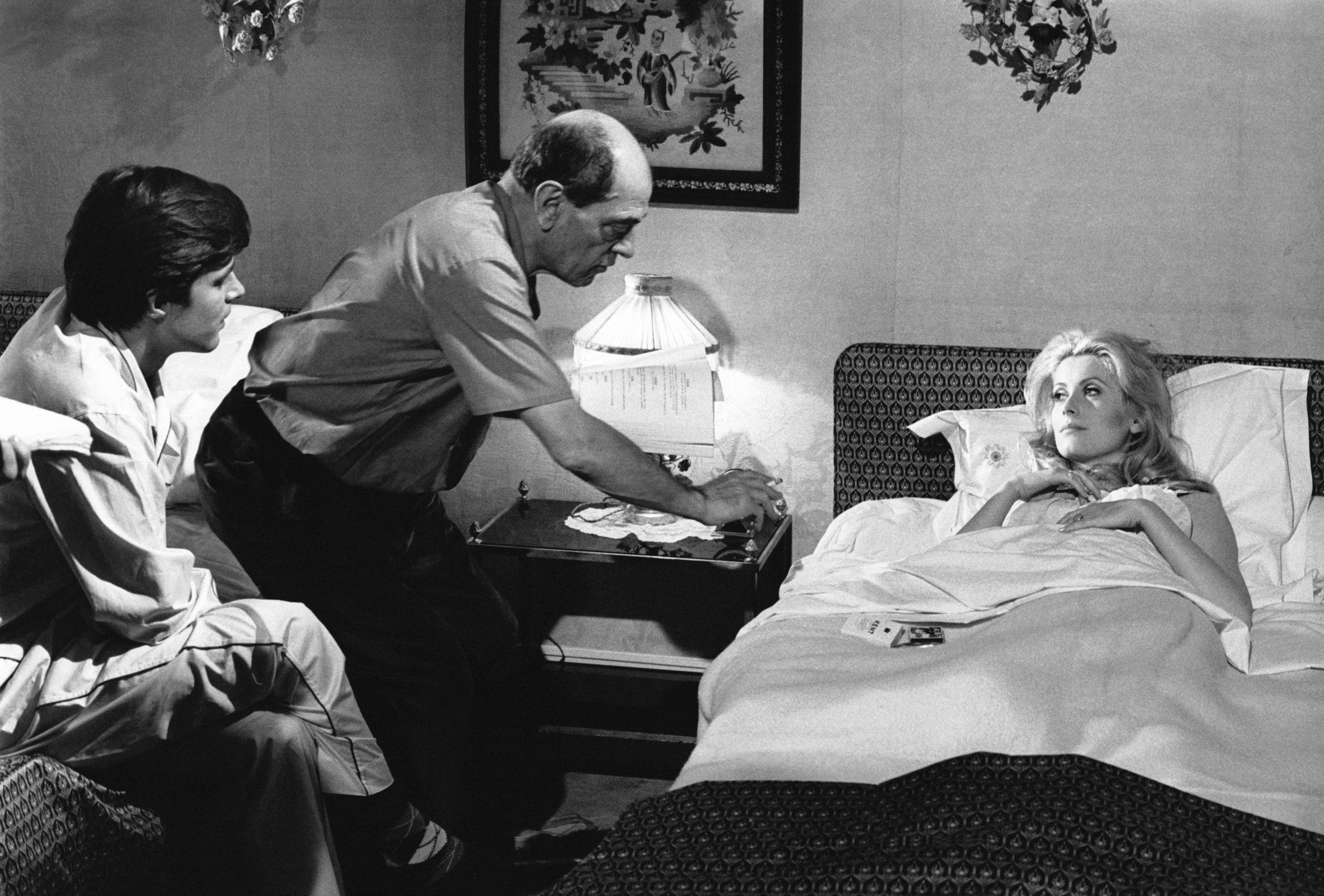 Filmmaker Luis Buñuel, Golden Globe nominee, and Catherine Deeneuve, 1967