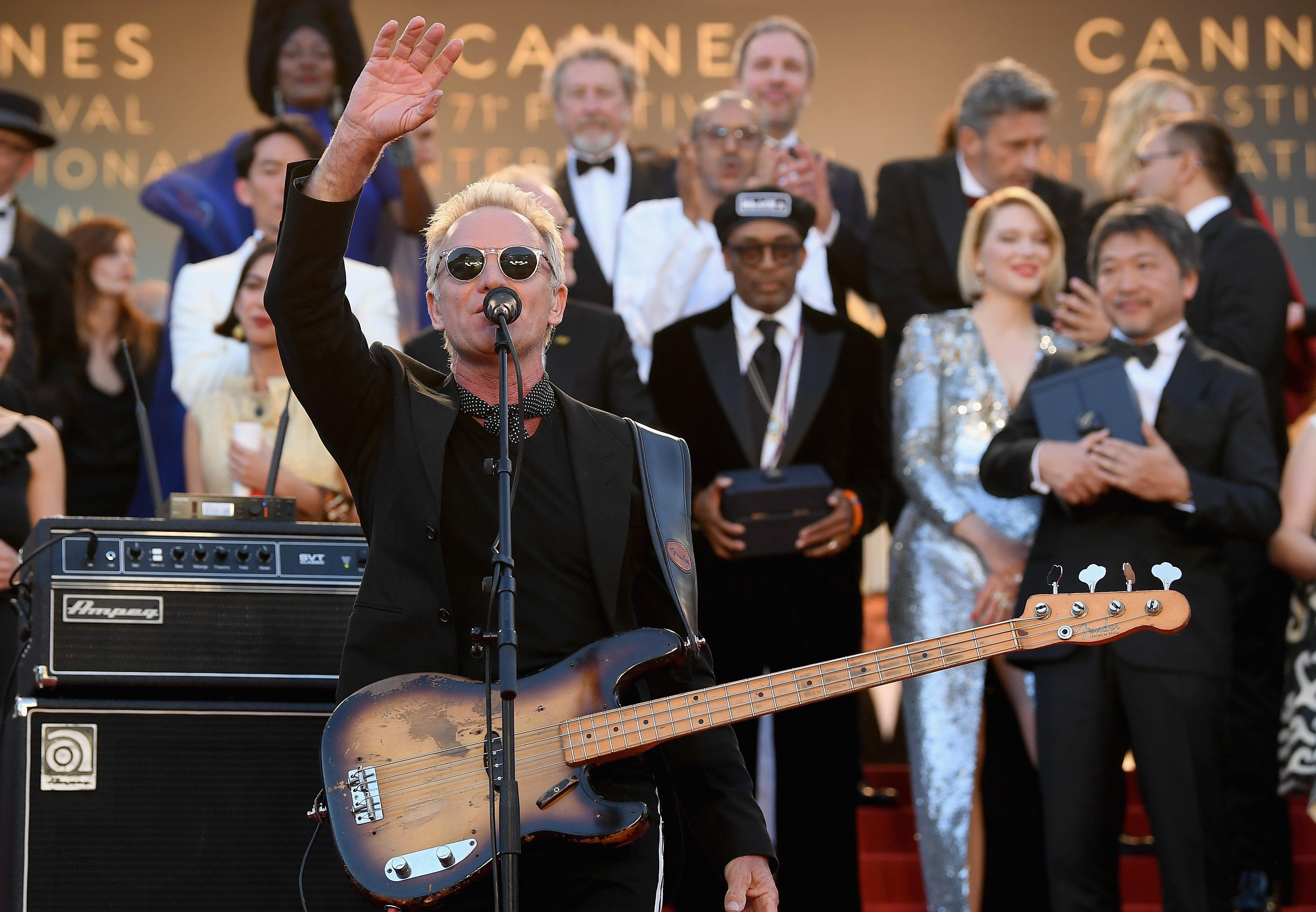 Sting at Cannes 2018