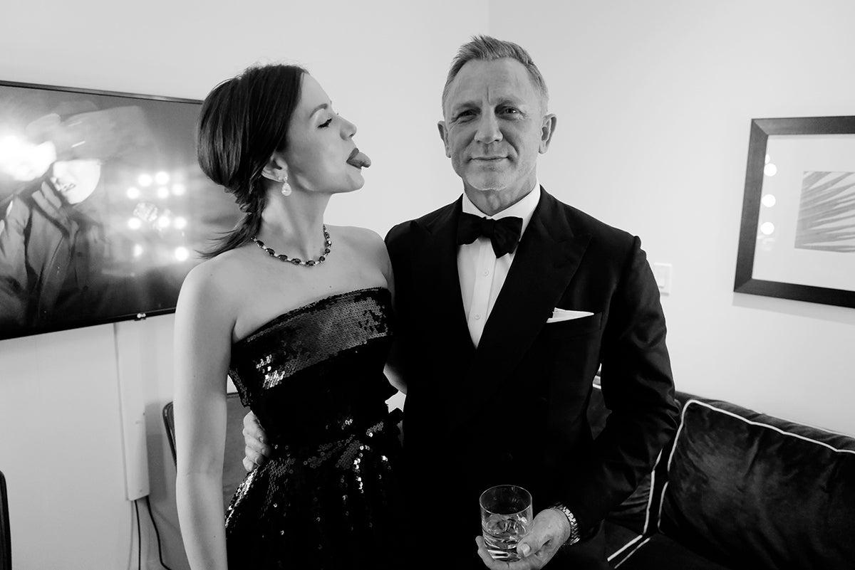 Ana de Armas and Daniel Craig