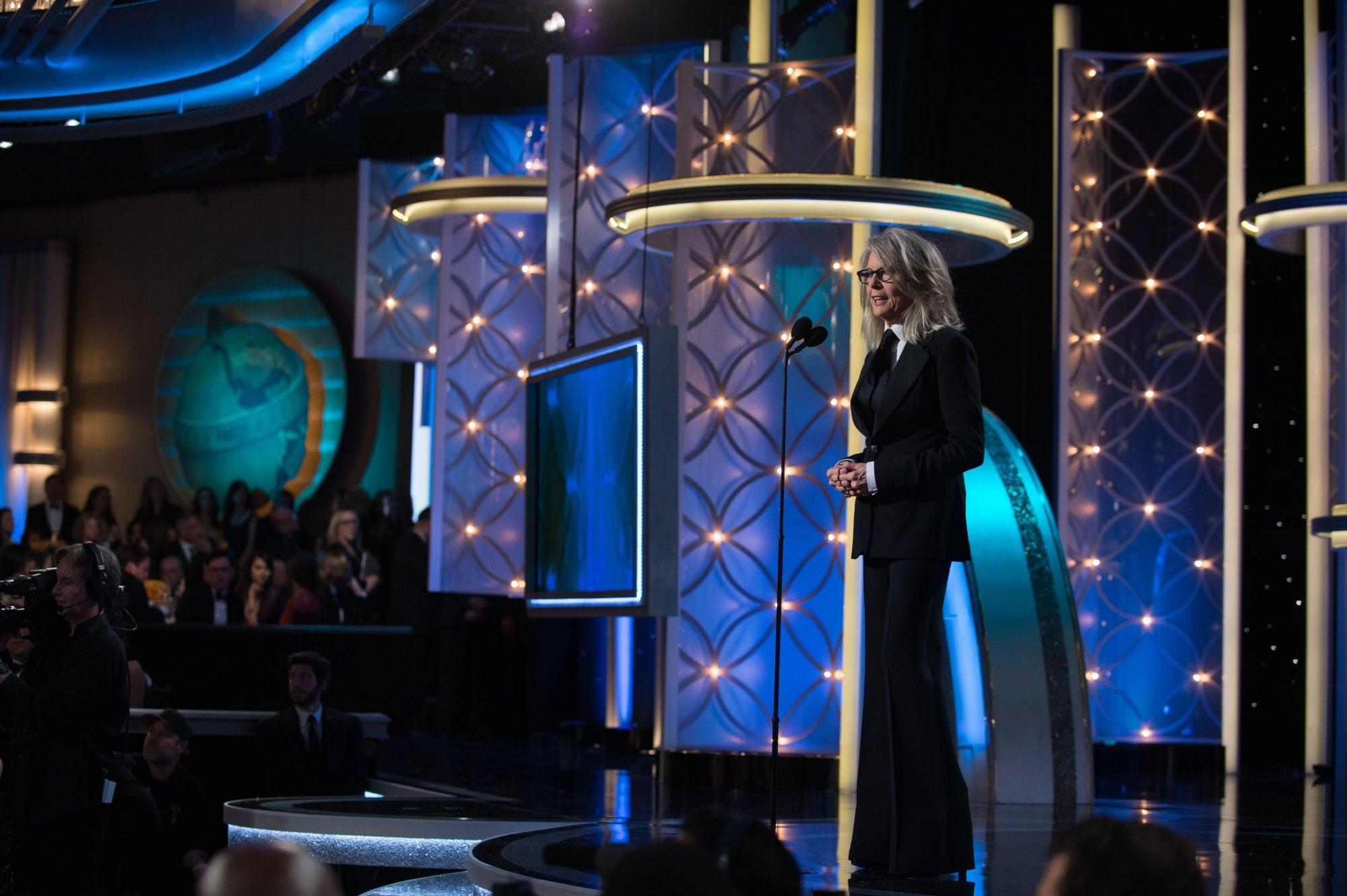 Diane Keaton at the 71st GGlobes, 2014