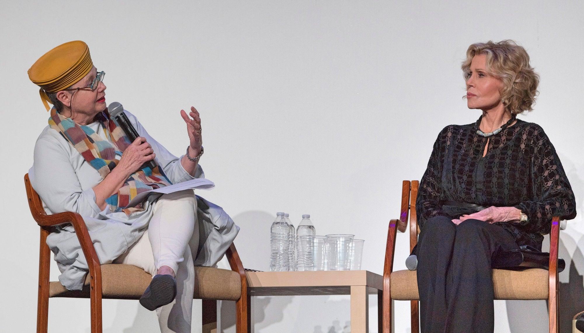 Sandra Schulberg interviews Jane Fonda at the HFPA Restoration Summit 2019