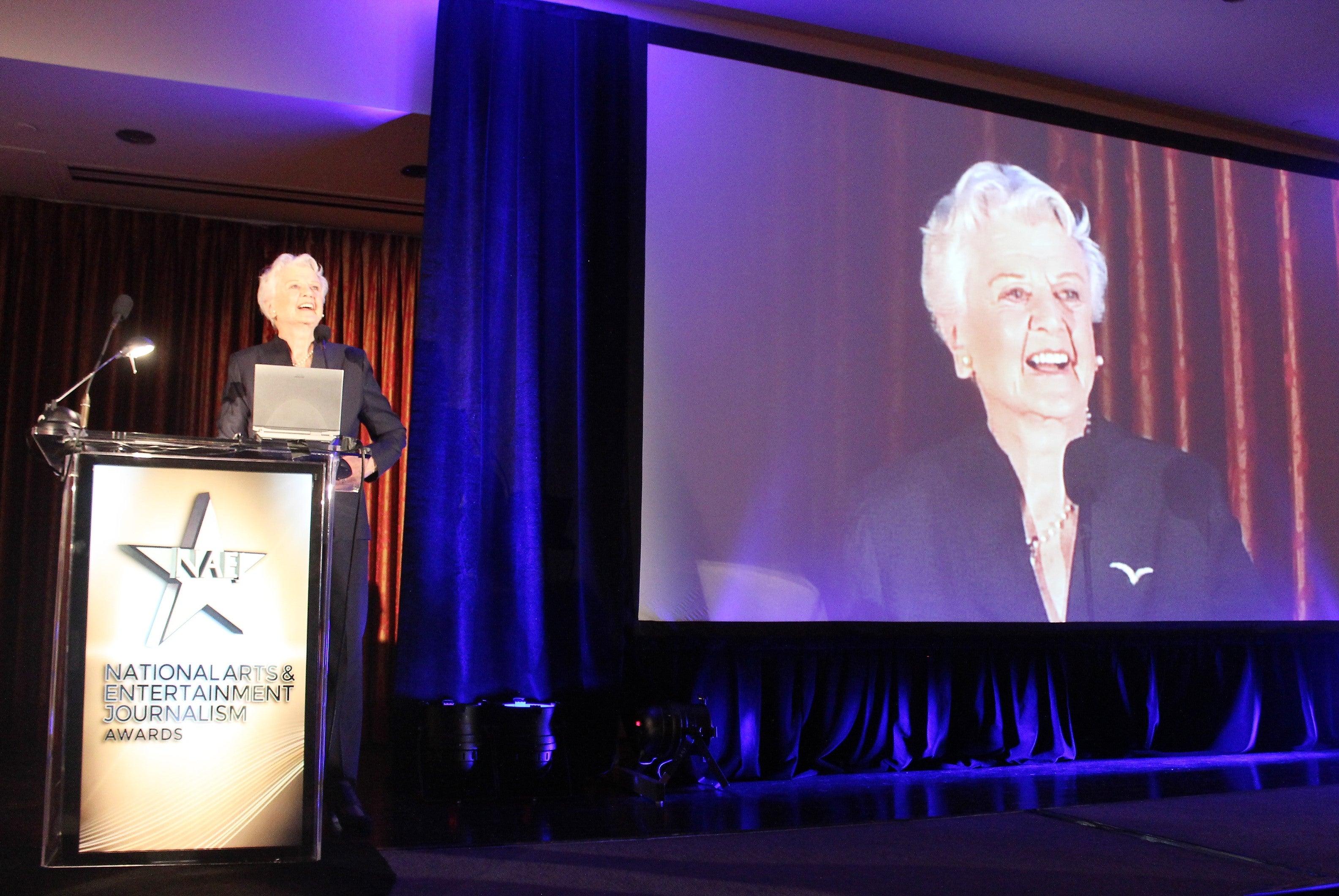 Angela Lansbury accepts lifetime award, LA Press Club 2016