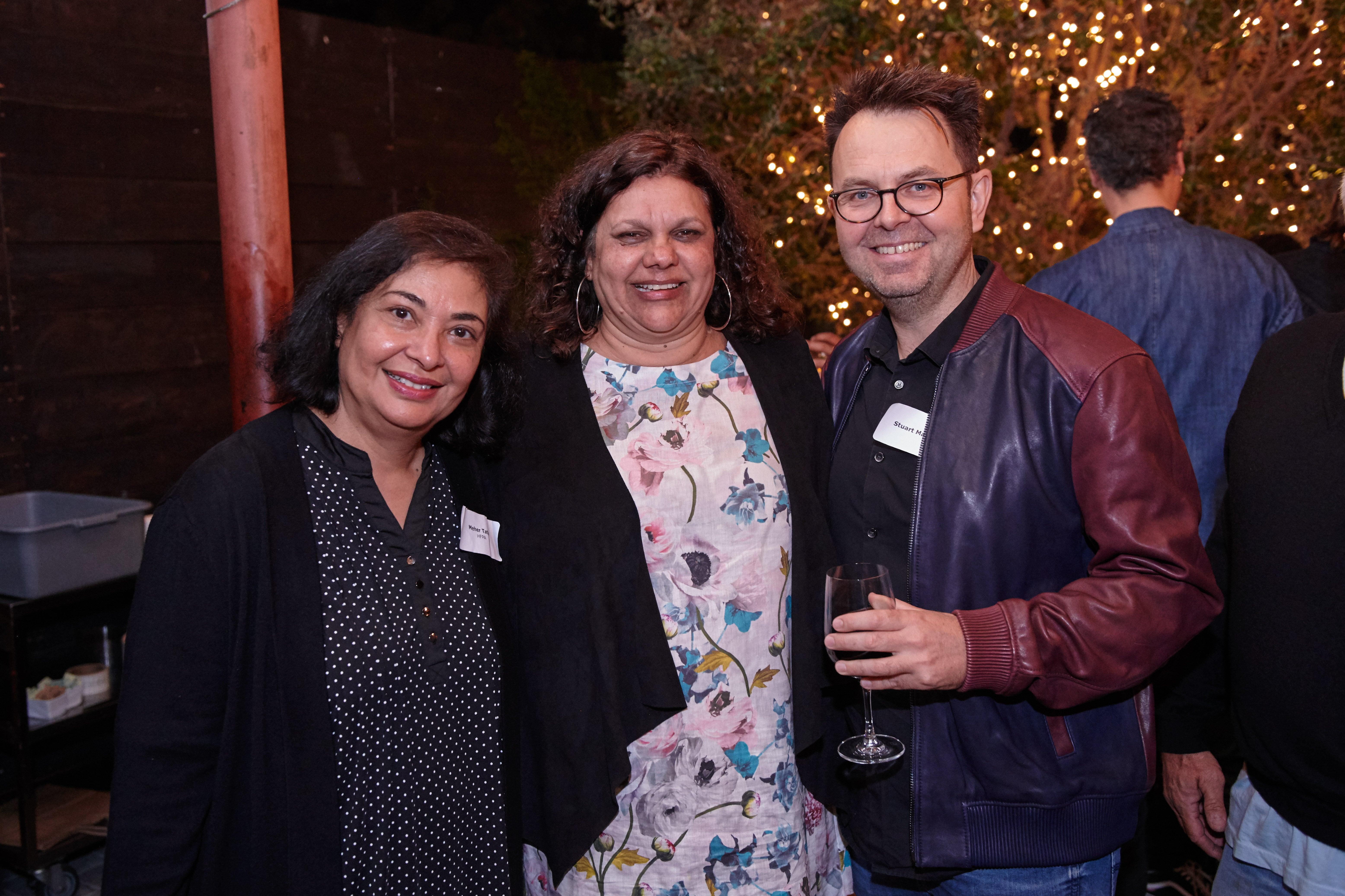 HFPA president Meher tatna delegate Erica Glynn and director Stewart McDonald