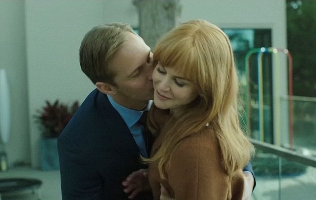 Nicole Kidman and Alexander Skarsgard ina scene from the HBO mini-series Big Little Lies