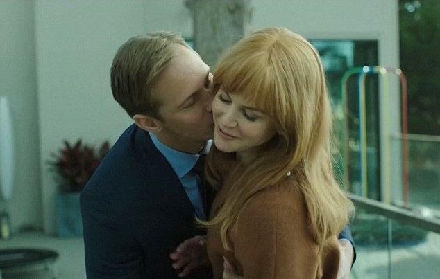 Nicole Kidman and Alexander Skarsgard ina scene from the HBO mini-series Big Little Lies