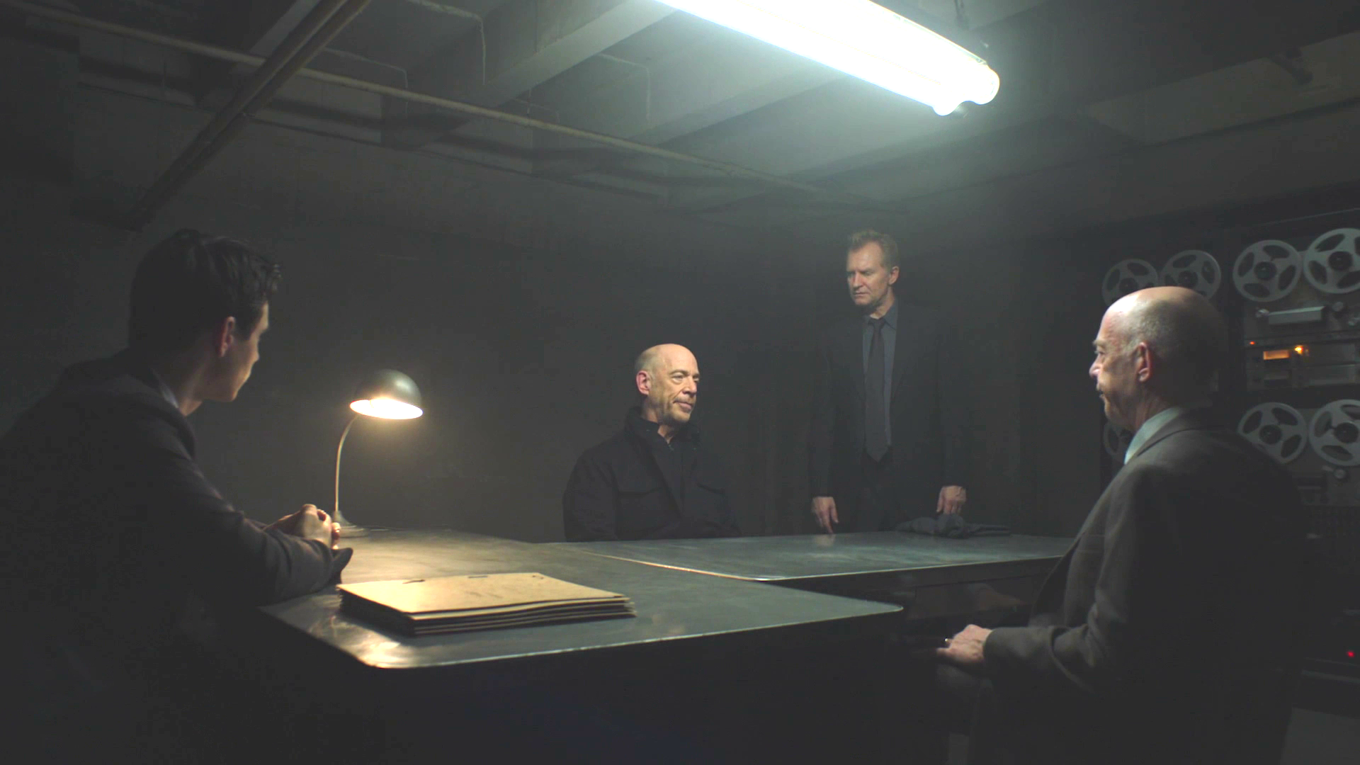 Ulrich Thomsen and J.K. Simmons in a scene from the TV series Counterpart
