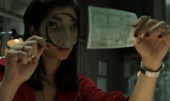 "Alba Flores in a scene from ""Money Heist"", 2019"