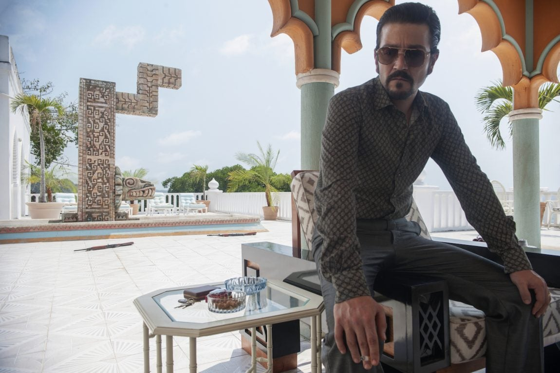 Diego Luna in a scene from Narcos México