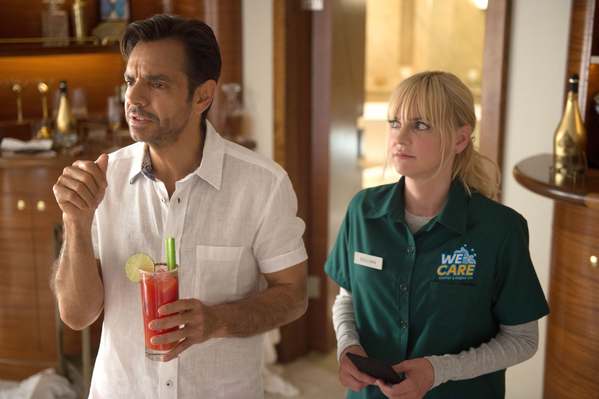 A scene from the film Overboard, 2018