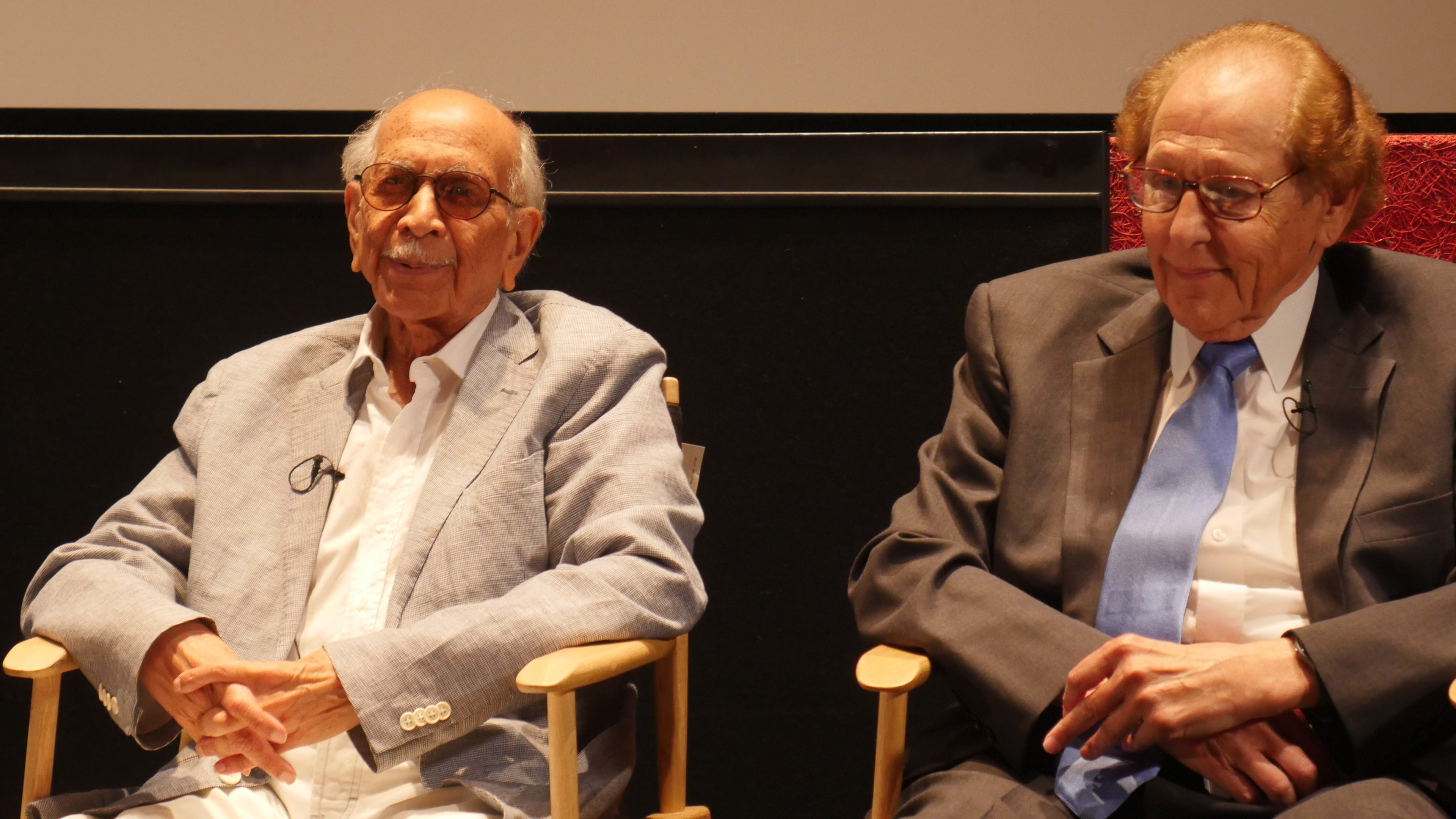 Senior members Doss, de Souza and Camara at the CSUN HFPA event