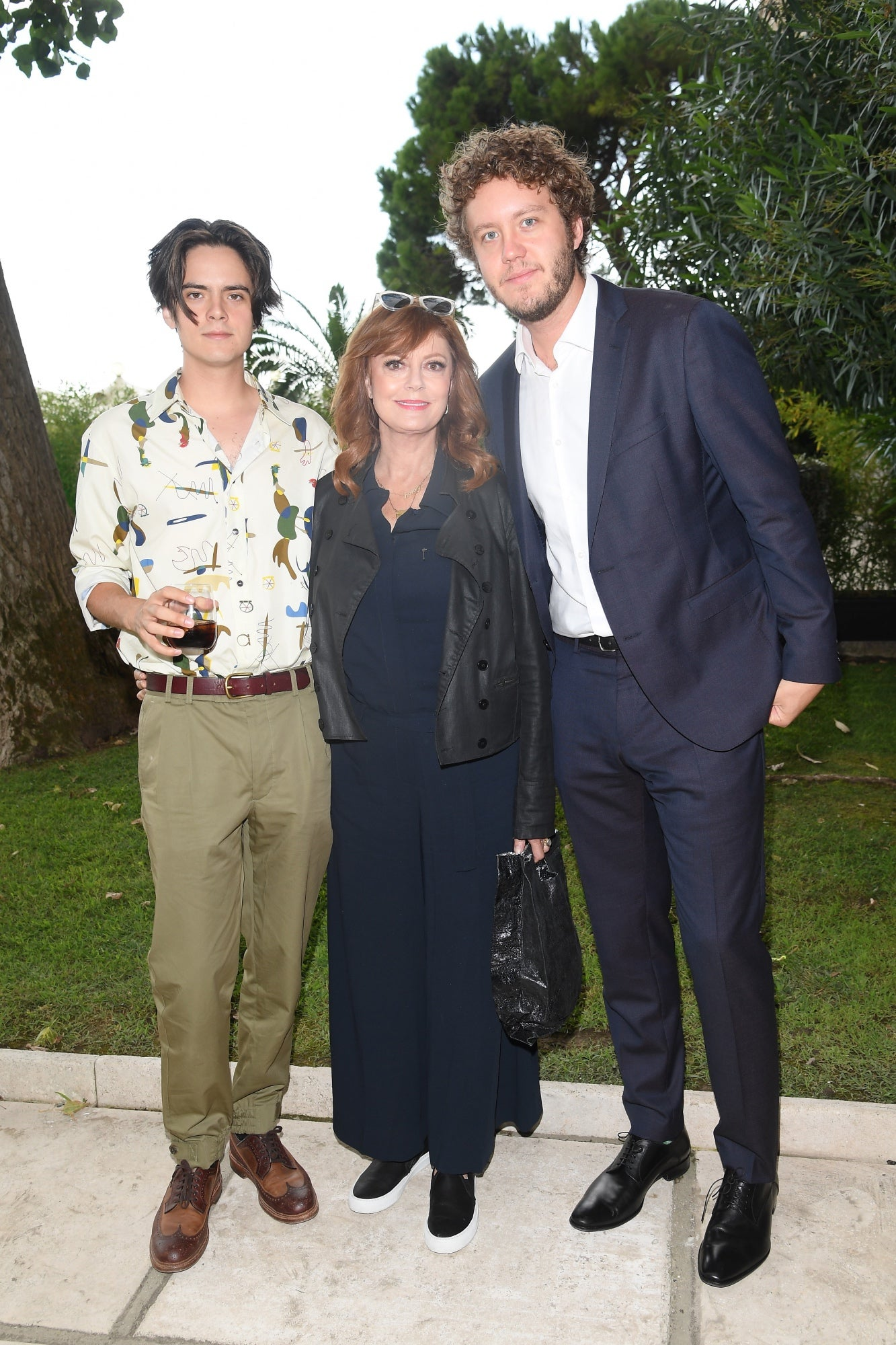 Susan Sarandon and sons at the HFPA party, Venice 2017