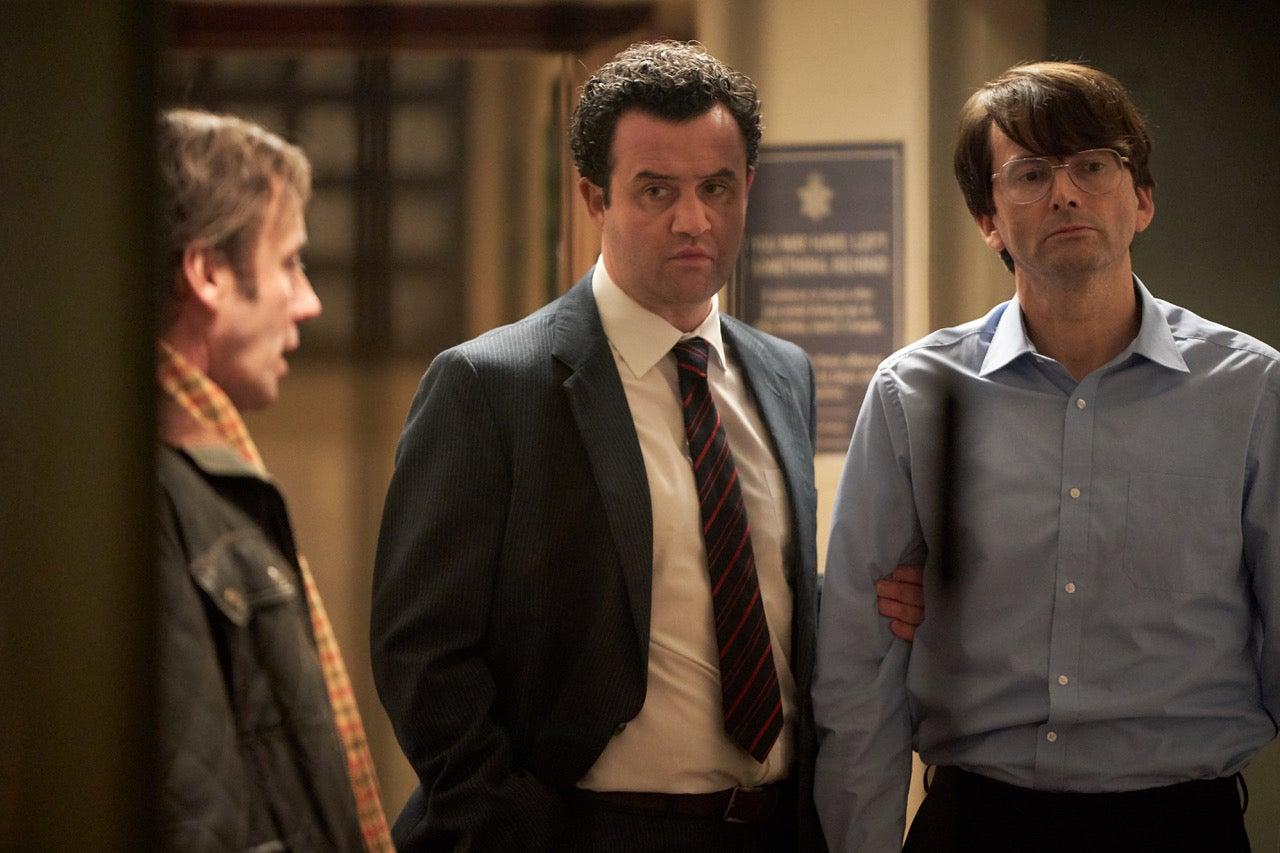 "Jay Simpson, David Tennant, and Daniel Mays in ""Des"""