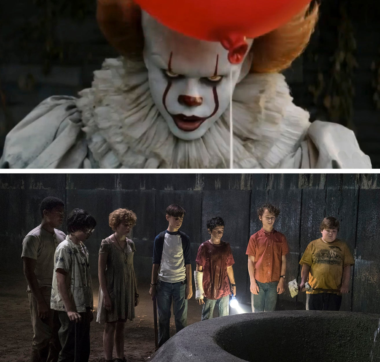 "Scenes from the movie ""It"""