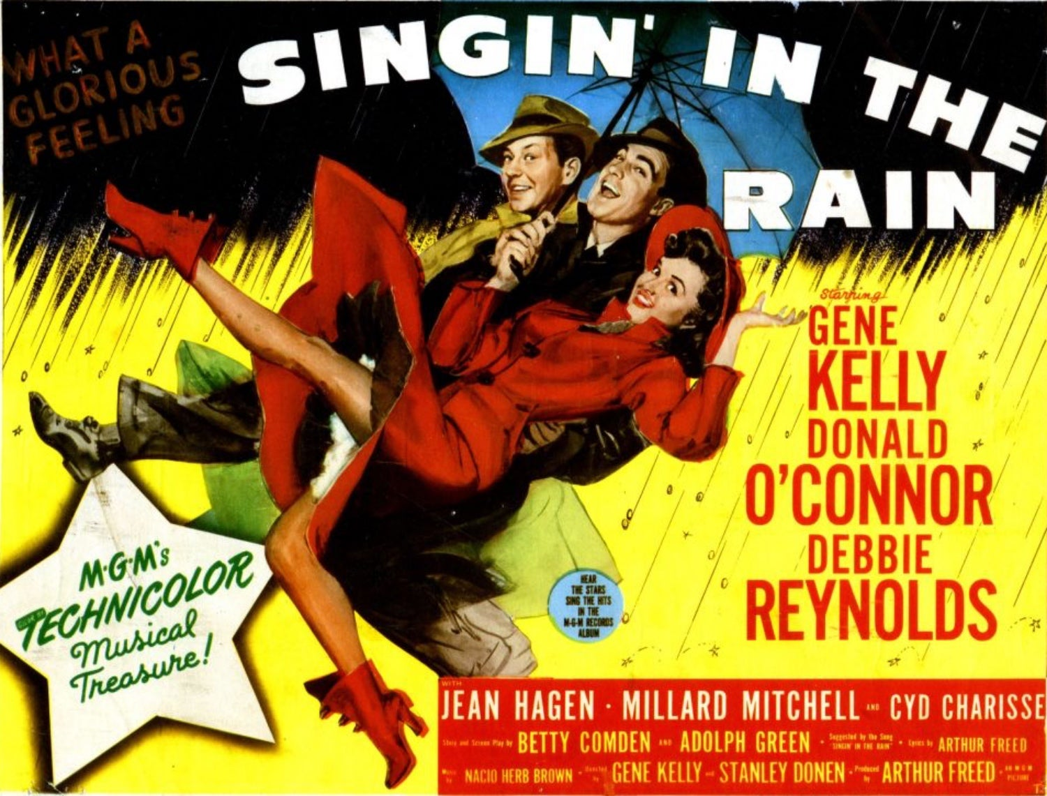 """Poster for """"Singin in the Rain"""", 1952"""