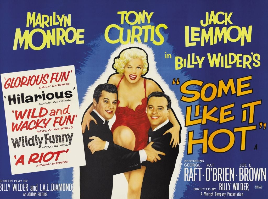 """Poster for """"Some Like it Hot"""", 1959"""