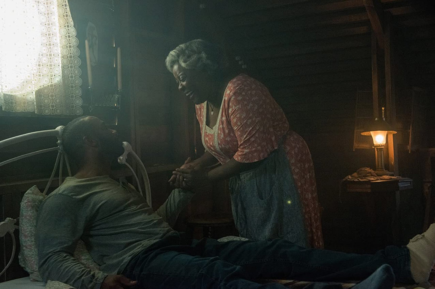 "Loretta Devine and Omari Hardwick in ""Spell"" (2020)"