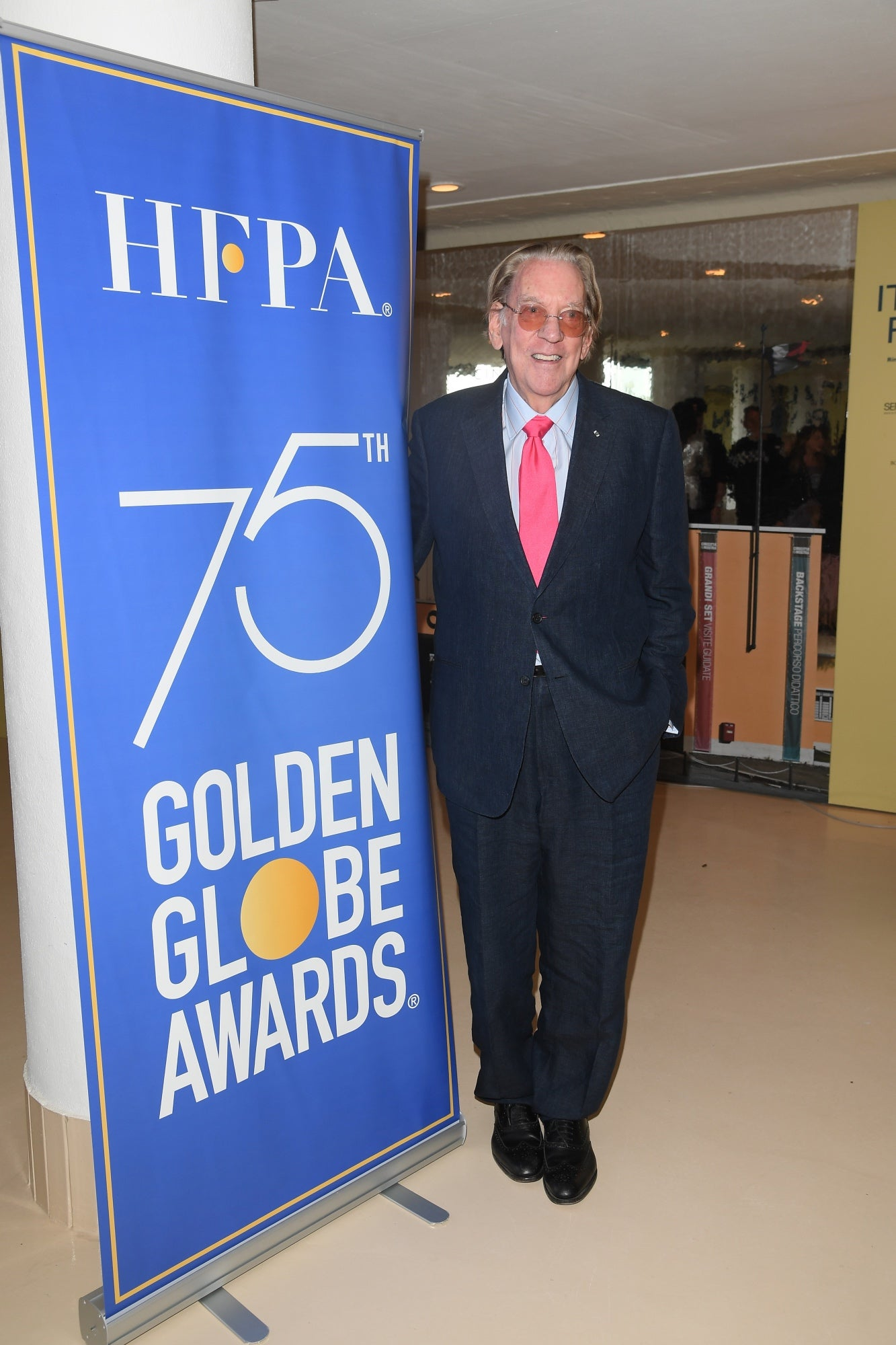 Donald Sutherland at the HFPA Reception, Venice 2017