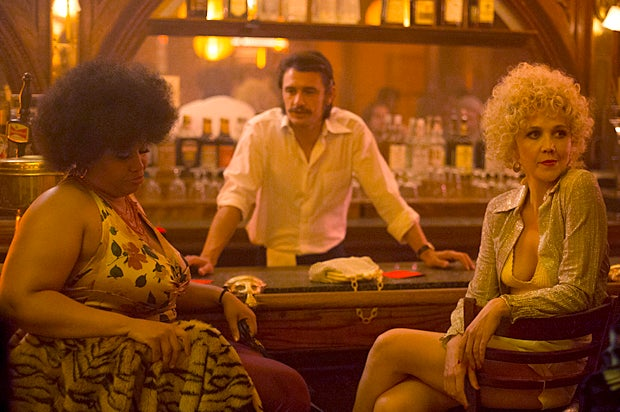"Maggie Gyllenhaal and James Franco in a scene from the HBO series ""The Deuce"""