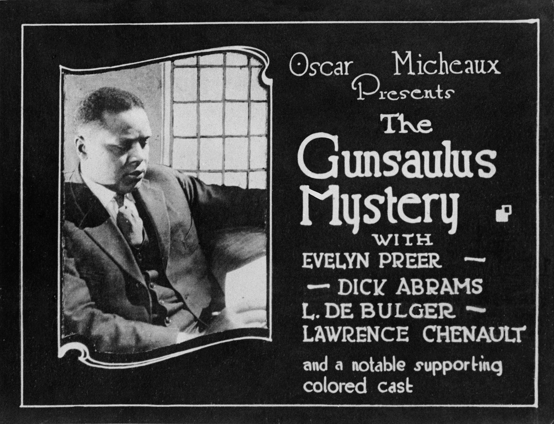 """""""The Gonsaulus Mystery"""" poster 1921"""