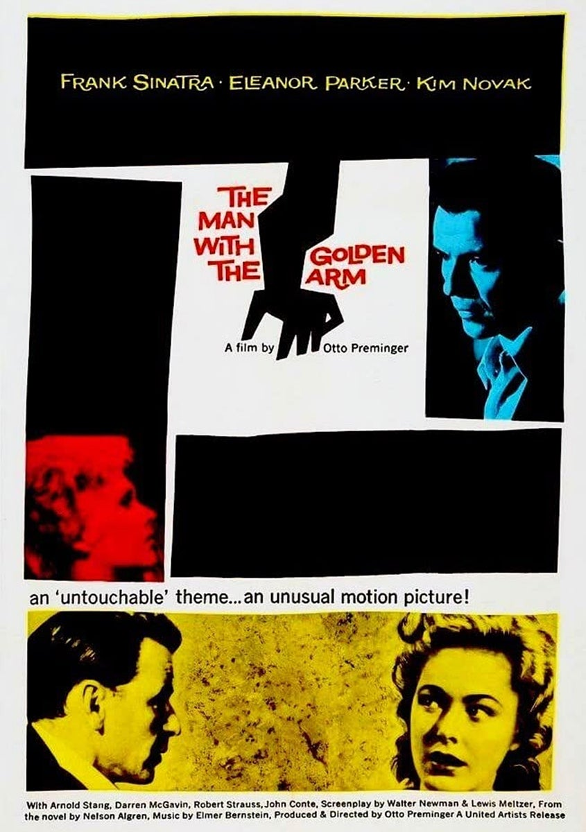 """The Man with the Golden Arm"" (1955) poster"