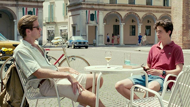 A scene from the movie Call Me By Your Name