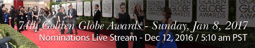 74th Golden Globe Awards Nominations