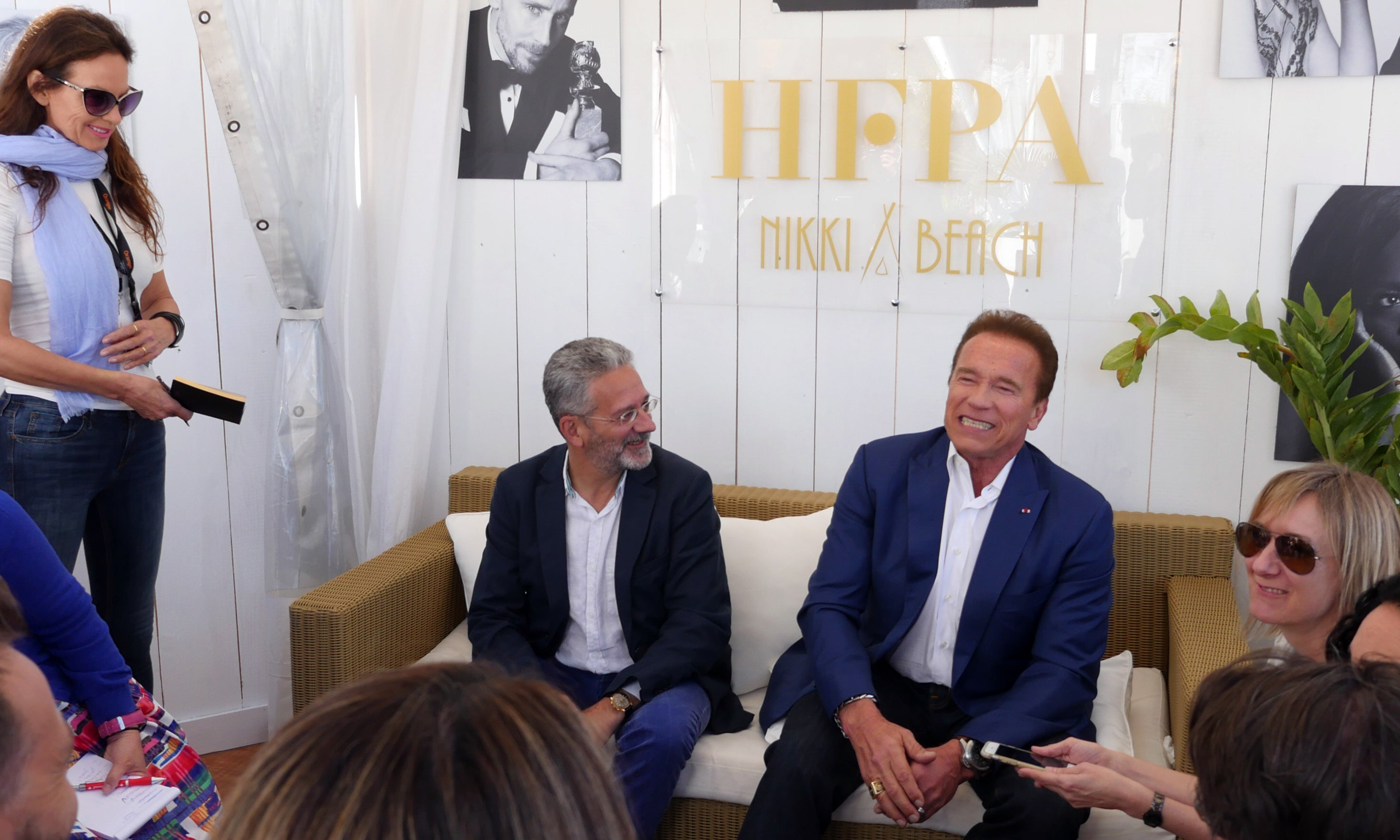 Arnold Schwarzenegger with HFPA
