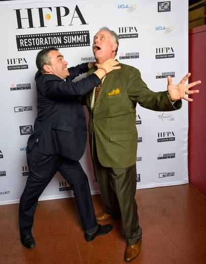 erge Bromberg and Eddie Muller debate the finer points of color correction at the HFPA Summit