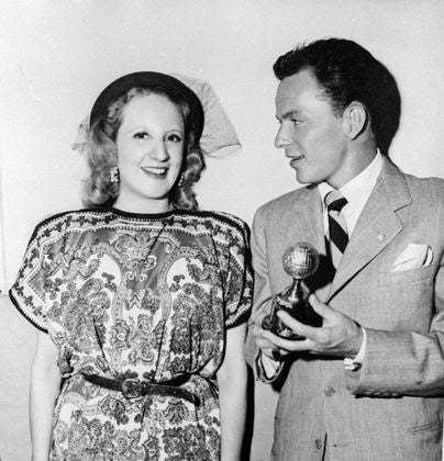 Actor and entertainmer Frank Sinatra, Golden Globe winner, 1946