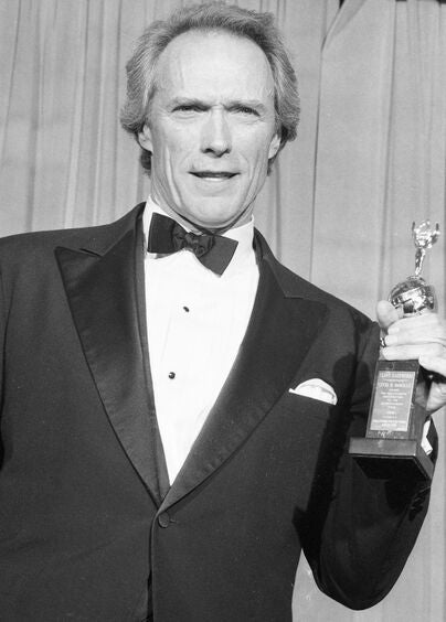 Acir and director Clint Eastwood, Golden Globe winner and Cecil. B. deMille award recipient