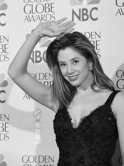 Actress Mira Sorvino, 1997, Golden Globe winner