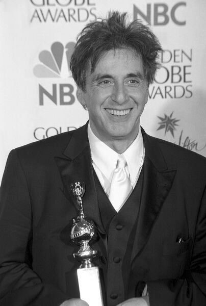 Al Pacino with his Cecil B. deMille Award in 2001