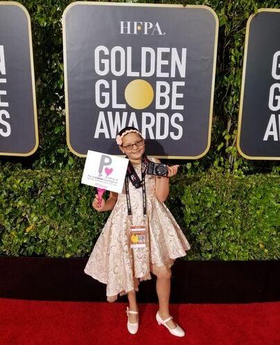 Meet Addison Rivera, teh Pablove Shutterbug  at the 2020 Golden Globes