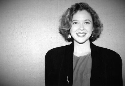Actress Annette Bening, Golden Globe nominee, in 1991