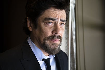 Actor Benicio del Toro, Golden Globe recipient