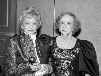 Bette Davis and Sylvia  Sidney, Golden Globes 1986