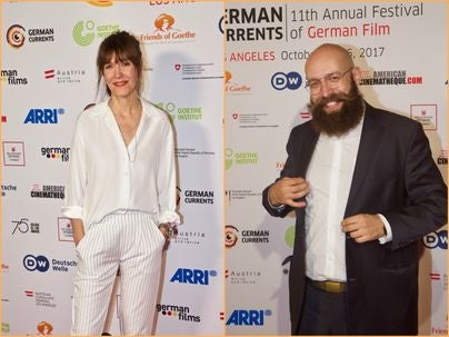 Directors Ute Wieland and Jakob Lass at the German Currents Film Festival