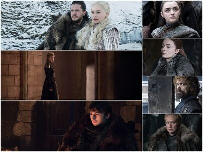 Scenes from Game of Thronesm season 8