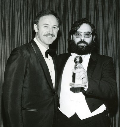 Gene Hackman and Francis Ford Coppola at the 1973 Golden Globes