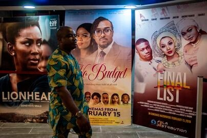 A movie theater in Lagos, Nigeria, 2019