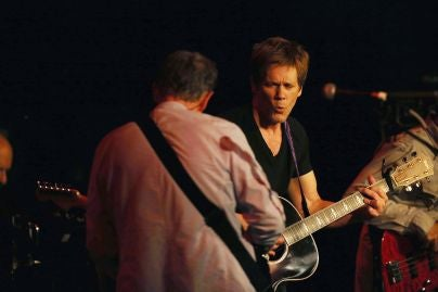 Actor Kevin Bacon, Golden Globe winner, performing with his vand The Bacon Brothers