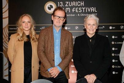 Annie Maude Starke, director Björn Runge and Glenn Close at Zurich Film Festival 2017