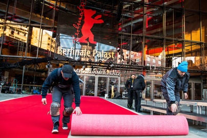 The Berlinale Palast prepares for the 2018 Berlin Film Festival