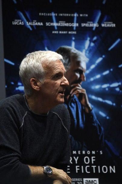 Director James Cameron, Golden Globe winner